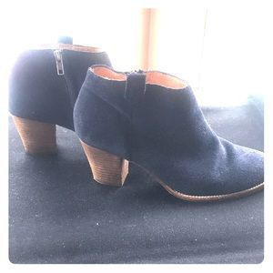 Madewell Billie Boot Navy Suede 9.5